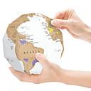 hesapli diğer Yenilik-Kazı Haritaları Küre Harita 3D Kağıt Genç Erkek Genç Kız Oyuncaklar Hediye