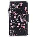 ieftine Ecrane Protecție Tabletă-Maska Pentru Apple iPhone X / iPhone 8 Plus / iPhone 8 Portofel / Titluar Card / Cu Stand Carcasă Telefon Floare Greu PU piele