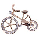 cheap Brooches-Women's Brooches - Rhinestone Bike Sweet, Elegant Brooch Gold For Daily / Casual