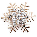 cheap Brooches-Brooches - Imitation Diamond Snowflake Simple, Classic, Fashion Brooch Gold / Silver For Daily