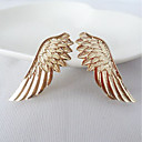 cheap Brooches-Women's Collar Needle - Rhinestone Wings Simple, Sweet Brooch Jewelry Gold For Formal / Work