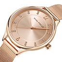ieftine Coliere-MINI FOCUS Pentru femei Ceas de Mână ceas de aur Japoneză Quartz Oțel inoxidabil Negru / Argint / Auriu 30 m Ceas Casual Analog femei Lux Casual - Negru Argintiu Roz auriu / Sony SR626SW