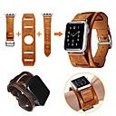 저렴한 아이폰 케이스-시계 밴드 용 Apple Watch Series 4/3/2/1 Apple 나비 버클 천연 가죽 손목 스트랩
