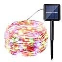 ieftine Imbracaminte & Accesorii Căței-10m Fâșii de Iluminat 100 LED-uri Alb Cald / Alb / Albastru Rezistent la apă <5 V 1 buc / IP65