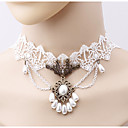 cheap Earrings-Women's Choker Necklace - Imitation Pearl Flower Simple, Fashion White Necklace One-piece Suit For Daily