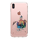 abordables Coques d'iPhone-Coque Pour Apple iPhone X iPhone 8 iPhone 8 Plus Ultrafine Transparente Motif Coque Animal Flexible TPU pour iPhone 8 Plus iPhone 8