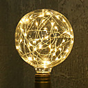Недорогие LED лампы накаливания-1шт 3W 200lm E26 / E27 LED лампы накаливания G95 33 Светодиодные бусины SMD звездный Декоративная Тёплый белый 85-265V