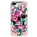 cheap iPhone Cases-Case For Apple iPhone X iPhone 8 Plus Pattern Back Cover Flower Skull Soft TPU for iPhone X iPhone 8 Plus iPhone 8 iPhone 7 Plus iPhone 7