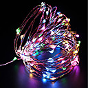 olcso LEDszalagfények-ZDM® 10 m Fényfüzérek 100 LED SMD 0603 10M karakterlánc Meleg fehér / Hideg fehér / Piros <5 V 1db / IP68