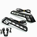 cheap LED Car Bulbs-2pcs Light Bulbs 6W High Performance LED 6 Daytime Running Light For Mercedes-Benz C200 / C180 / Classic Universal