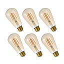 preiswerte Ohrringe-GMY® 6pcs 4.5W 320lm E26 LED Glühlampen ST19 4 LED-Perlen COB Abblendbar Edison-Birne Dekorativ LED-Lampe Warmes Weiß 110-130V