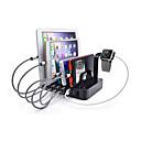 hesapli USB Hubs ve Switchleri-USB Şarj Aleti 6 Limanlar Masaüstü Şarj Cihazı İstasyonu Switch ile (es) Stand Donağı Şarj Adaptörü