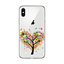 cheap iPhone Cases-Case For Apple iPhone X iPhone 8 Plus iPhone 5 Case iPhone 6 iPhone 7 Transparent Pattern Back Cover Tree Soft TPU for iPhone X iPhone 8