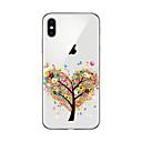 baratos Capinhas para iPhone-Capinha Para Apple iPhone X iPhone 8 Plus Capinha iPhone 5 iPhone 6 iPhone 7 Transparente Estampada Capa traseira Árvore Macia TPU para