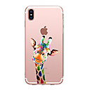 tanie Etui do iPhone-Kılıf Na Apple iPhone X iPhone 8 Przezroczyste Wzór Czarne etui Zwierzę Miękkie TPU na iPhone X iPhone 8 Plus iPhone 8 iPhone 7 Plus