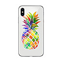 cheap iPhone Cases-Case For Apple iPhone X / iPhone 8 Plus Transparent / Pattern Back Cover Fruit Soft TPU for iPhone X / iPhone 8 Plus / iPhone 8