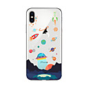 voordelige iPhone-hoesjes-hoesje Voor Apple iPhone X iPhone 8 Plus iPhone 5 hoesje iPhone 6 iPhone 7 Doorzichtig Patroon Achterkant Cartoon Zacht TPU voor iPhone X