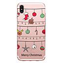 voordelige iPhone-hoesjes-hoesje Voor Apple iPhone X iPhone 8 Transparant Patroon Achterkant Kerstmis Zacht TPU voor iPhone X iPhone 8 Plus iPhone 8 iPhone 7 Plus