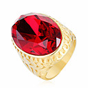 cheap Men's Watches-Men's Cubic Zirconia Statement Ring - Stainless Steel, Zircon Fashion 8 / 9 / 10 / 11 / 12 Red / Green / Blue For Party Ceremony