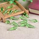 olcso Ékszer csomagolás és kiállítás-DIY ékszerek 10 db Perlice Üveg Bíbor Rózsaszín Barna Zöld Világoskék Függők üveggyöngy 0.8 cm DIY Nyakláncok Karkötők
