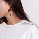 abordables Boucles d'Oreille-Femme Boucles d'oreille goutte - Imitation de perle Cœur Doux Noir / Vin Pour Soirée / Cadeau