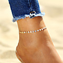 cheap Anklet-Anklet Ankle Bracelet - Silver Plated, Gold Plated Bohemian, Fashion, Boho Gold / Silver For Gift / Going out / Bikini / Women's