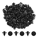 cheap Ignition Parts-100pcs 8mm Dia Black Plastic Splash Carpet Push-Type Interior Mat Clips for Cars
