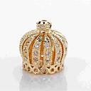 preiswerte Halsketten-DIY Schmuck 1 Stück Glasperlen Aleación Gold Silber Kronenform Korn 0.5 cm DIY Modische Halsketten Armbänder