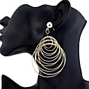 cheap Necklaces-Women's Drop Earrings - Fashion, Oversized Gold / Silver For Party Festival