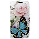 رخيصةأون Huawei أغطية / كفرات-غطاء من أجل Huawei Huawei محفظة / حامل البطاقات / مع حامل فراشة / زهور قاسي