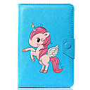 cheap Tablet Cases-Case For Full Body Cases Tablet Cases Unicorn Cartoon Hard PU Leather for