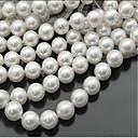ieftine Mărgele-DIY bijuterii 46 buc Χάντρες Imitație de Perle Alb Rotund Şirag de mărgele 0.8 cm DIY Coliere Brățări