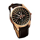 cheap Men's Watches-Men's Wrist Watch Japanese Quartz 30 m Casual Watch Genuine Leather Band Analog Casual Fashion Black / Brown - Black / Brown Silver / Black White / Brown