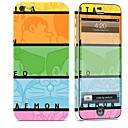 hesapli iPhone Stickerları-1 parça Deri Etiket için Çizilmeye Dayanıklı Lolita Tema PVC iPhone 5c