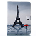 cheap iPad  Cases / Covers-Case For Apple iPad Pro 10.5 / iPad (2017) Wallet / Card Holder / with Stand Full Body Cases Eiffel Tower Hard PU Leather for iPad Air / iPad 4/3/2 / iPad Pro 10.5