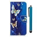 abordables Pochettes / Coques d'iPad-Coque Pour Samsung Galaxy J7 (2017) / J5 (2017) Portefeuille / Porte Carte / Avec Support Coque Intégrale Papillon Dur faux cuir pour J7 (2017) / J5 (2017) / J5 (2016)