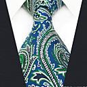 رخيصةأون ربطات عنق-ربطة العنق ألوان متناوبة / زخرفات / خملة الجاكوارد رجالي حفلة / عمل