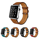 abordables Accessoires Xbox One-Bracelet de Montre  pour Apple Watch Series 3 / 2 / 1 Apple Bracelet en Cuir Vrai Cuir Sangle de Poignet