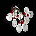 economico Collane Uomo-1.5m Fili luminosi 10 LED LED Dip Bianco Decorativo Batterie AA alimentate 1pc