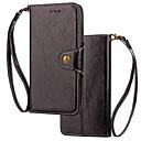 baratos Protetores de Tela para Samsung-Capinha Para Samsung Galaxy S9 Plus / S9 Carteira / Porta-Cartão / Flip Capa Proteção Completa Sólido Rígida couro legítimo para S9 / S9 Plus / S8 Plus