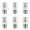 cheap LED Corn Lights-BRELONG® 6pcs 3W 270lm E14 E26 / E27 LED Corn Lights 24 LED Beads SMD 5730 Warm White White 220-240V
