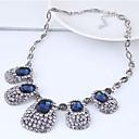 hesapli Kadın Saatleri-Kadın's Geometrik Açıklama Kolye - Vintage, Avrupa, Moda Koyu Mavi Kolyeler Mücevher Uyumluluk Parti