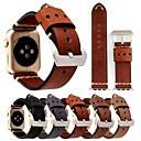 Недорогие Крепления и держатели для Apple Watch-Ремешок для часов для Apple Watch Series 3 / 2 / 1 Apple Кожаный ремешок Натуральная кожа Повязка на запястье