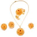 levne Pánské-Dámské Šperky Set Pozlacené Prohlášení, dámy, Módní Zahrnout Zlatá Pro Svatební Párty / Küpeler