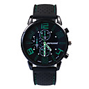 hesapli PS4 Aksesuarları-Erkek Moda Saat Japonca Quartz 30 m Gündelik Saatler Silikon Bant Analog İhtişam Siyah - Kırmzı Yeşil Mavi Bir yıl Pil Ömrü
