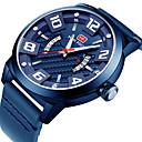 Χαμηλού Κόστους Ανδρικά ρολόγια-MINI FOCUS Ανδρικά Καθημερινό Ρολόι Ιαπωνικά Χαλαζίας Γνήσιο δέρμα Μαύρο / Μπλε / Καφέ Ημερολόγιο Νυχτερινή λάμψη Καθημερινό Ρολόι Αναλογικό Μοντέρνα - Καφέ Μπλε Χακί