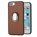 voordelige iPhone-hoesjes-hoesje Voor Apple iPhone 8 Plus iPhone 7 Plus Schokbestendig met standaard Ringhouder Achterkant Effen Kleur Hard PC voor iPhone 8 Plus