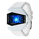 저렴한 남성용 시계-남성용 여성용 패션 시계 디지털 시계 일본어 석영 실리콘 블랙 / 화이트 / 블루 30 m 캐쥬얼 시계 디지털 스파클 - 블랙 레드 블루 1 년 배터리 수명
