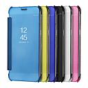 hesapli Kişiye Özel Giyim Aksesuarları-Pouzdro Uyumluluk Samsung Galaxy S9 S9 Plus Kaplama Ayna Tam Kaplama Kılıf Tek Renk Sert PU Deri için S9 Plus S9