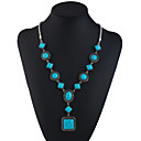 cheap Necklaces-Turquoise Y Necklace Long Necklace Ladies Ethnic Fashion Turquoise 69.8+5.5 cm Necklace Jewelry For Holiday Going out